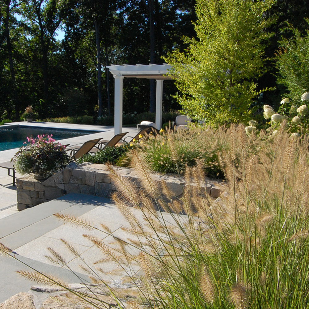 The LaurelRock Company - Residential Landscaping in CT - Sunset Ridge - Poolside Gardens